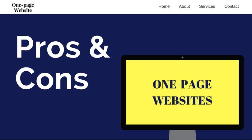 Advantageous and disadvantageous of one-page websites