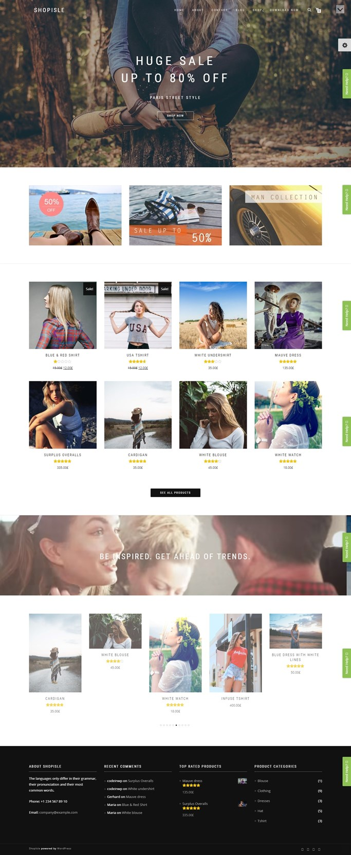 Screenshot of ShopIsle, Free WordPress Theme