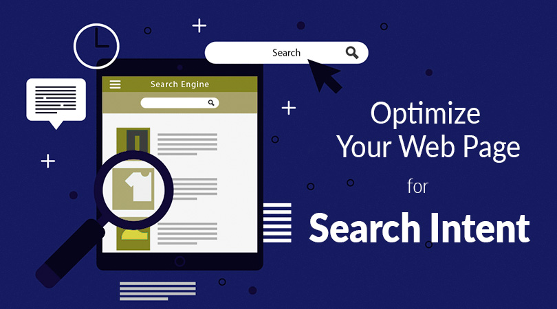 optimze the web page for search intent
