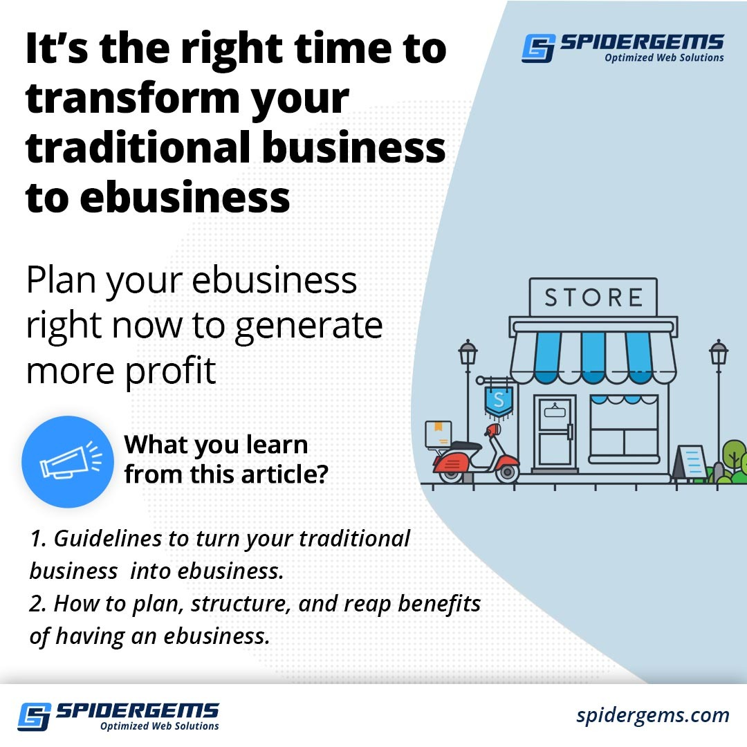 traditional business to ebusiness