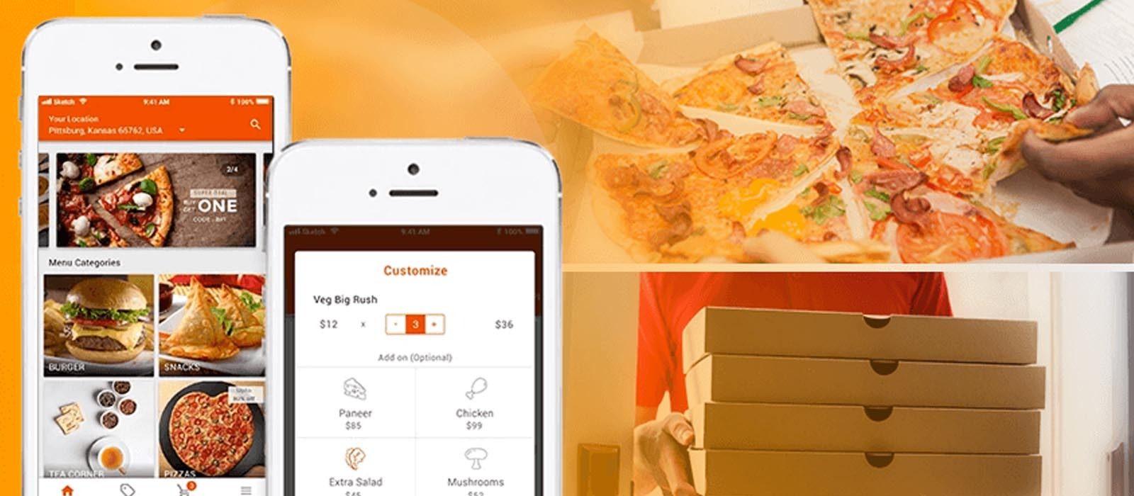 exclusive food delivery app