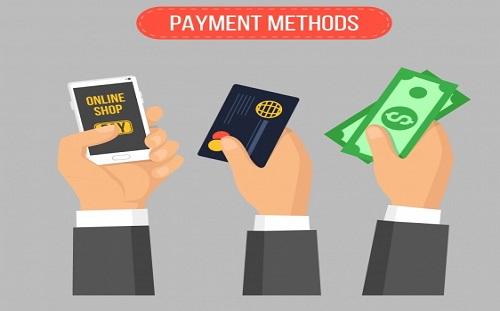 payment methods in ecommerce website development